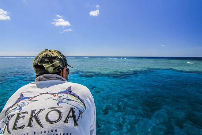 Luke overlooking the Great Barrier Reef