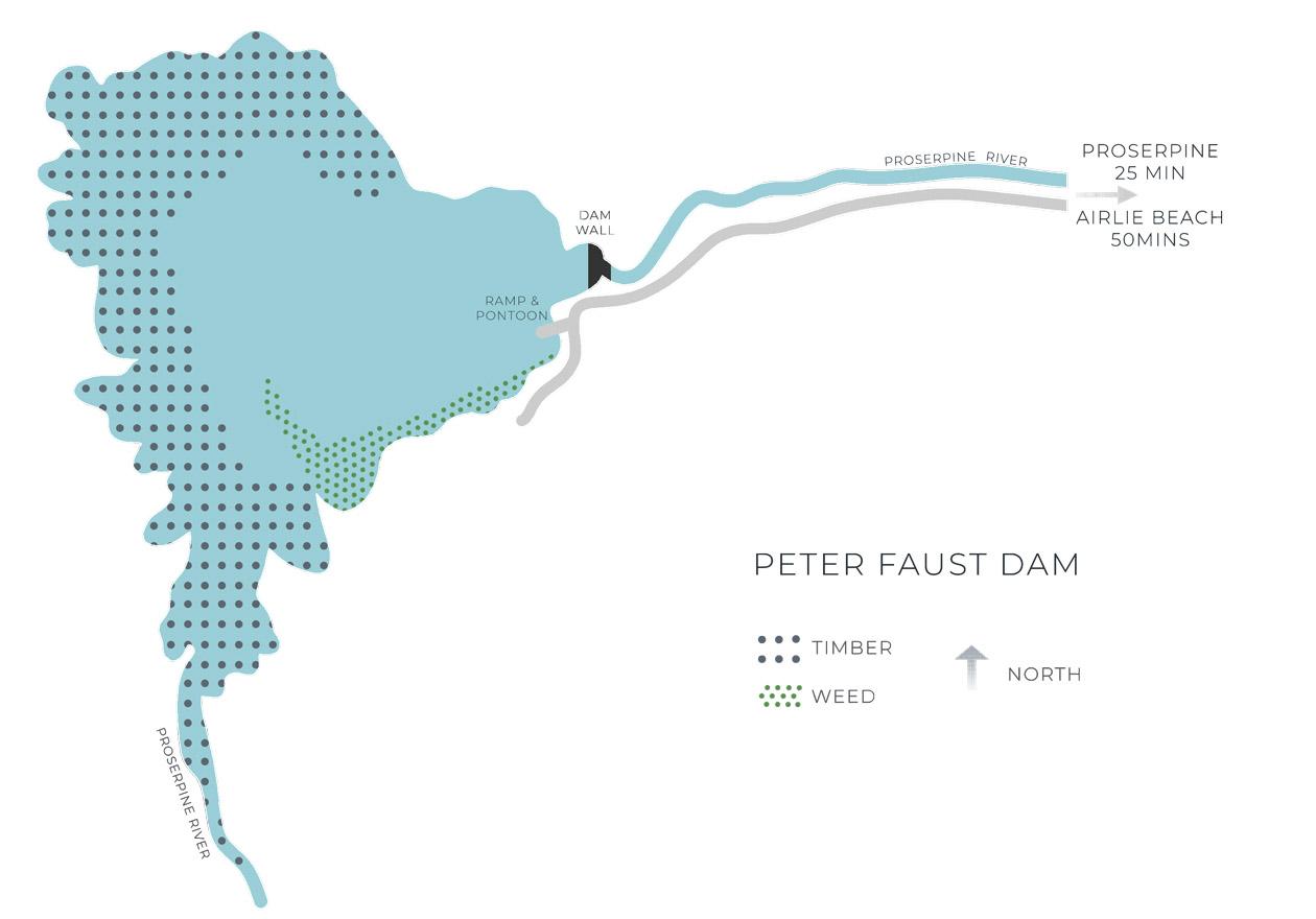 Peter Faust Dam Map